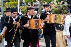 Musiker im sardinischen Kostüm Lizenzfreie Stockfotografie