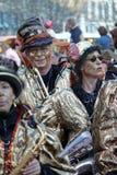 Musiker am Karneval Stockfotografie