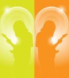 Musiker mit Gitarre Stockbild