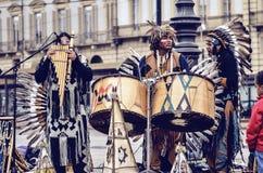Musiker Native Americans Stockbilder