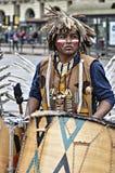 Musiker Native Americans Lizenzfreie Stockfotos