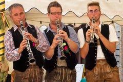 Musiker på partiet Fotografering för Bildbyråer