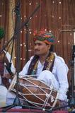 musiker rajasthan Royaltyfri Fotografi