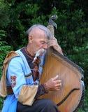 Musiker som spelar banduraen royaltyfria bilder