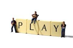 Musiker spielen A Lizenzfreie Stockfotografie