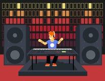 Musiker-Synthesizer Modern Music-Spieler-Konzept lizenzfreie abbildung