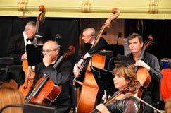 Musiker vor Leistungsanfang Stockfoto