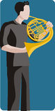 Musikerabbildungserie Stockbild
