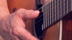Musikern spelar ett musikinstrument arkivfilmer