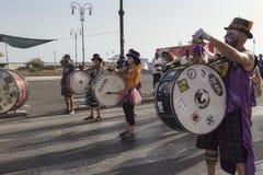 Musikerna av Lazioen är stolt över händelse i Rome Fotografering för Bildbyråer