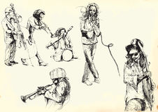 Musikersamling 2 Arkivbilder