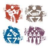 Musikerschmutzikonen vektor abbildung