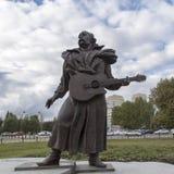 Musikerskulptur i konserthallen, yekaterinburg, ryssfederation Arkivfoto