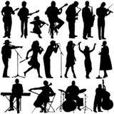 Musikervektor Lizenzfreies Stockfoto