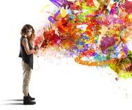 Musikfärgstil fotografering för bildbyråer