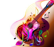 Musikfahne Stockbild