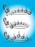 Musikfarben-Symbolabbildung lizenzfreie abbildung