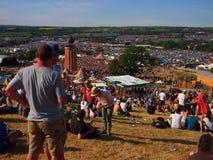 Musikfestival i solsken Royaltyfri Bild
