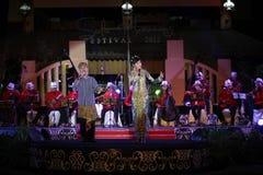 Musikfestivalen Keroncong arkivbild