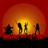 Musikfestivalvektor Stockbild