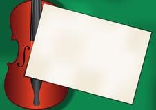 Musikfiolbakgrund stock illustrationer