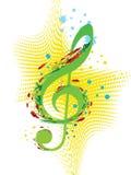 musikfjäder royaltyfri illustrationer