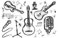 Musikgekritzel-Vektorsatz Stockbild