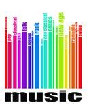 Musikgenrebegrepp royaltyfri illustrationer