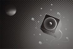 Musikgrauhintergrund Stockbild