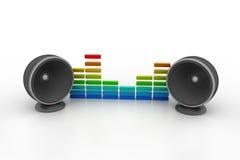 Musikhögtalare Arkivfoto