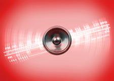 Musikhögtalare och radiovisartavla Arkivfoton