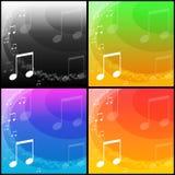 Musikhintergründe Stockbilder