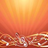Musikhintergrund Stockfotos