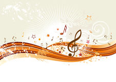 Musikhintergrund Lizenzfreies Stockfoto