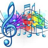 Musikhintergrund Lizenzfreie Stockfotos