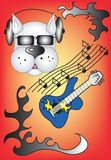 Musikhund Lizenzfreie Stockfotografie