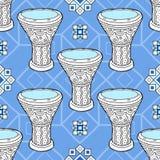 Musikhupe stellte 3 ein Arabische Trommeln perkussion vektor abbildung
