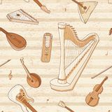 Musikhupe stellte 3 ein Streichinstrumente Abbildung kann für verschiedene Zwecke benutzt werden stock abbildung