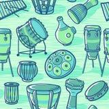 Musikhupe stellte 3 ein Trommeln eingestellt perkussion Verschiedene Varianten der Farbe sind möglich Stockfoto