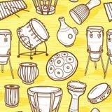Musikhupe stellte 3 ein Trommeln eingestellt perkussion Verschiedene Varianten der Farbe sind möglich Lizenzfreie Stockbilder