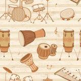 Musikhupe stellte 3 ein trommeln perkussion vektor abbildung