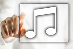 Musikikone Lizenzfreie Stockbilder