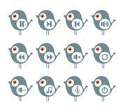 Musikikonen mit Vogel Stockfotos