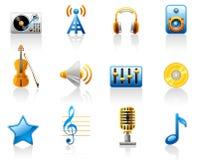 Musikikonenset Lizenzfreies Stockfoto