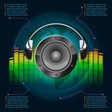 Musikinfographics Arkivfoton