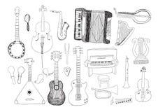 Musikinstrument Arkivfoto