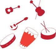 Musikinstrument stock illustrationer
