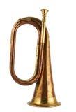 Musikinstrument der Trompete lokalisiert stockfoto
