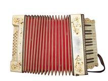 Musikinstrument des alten schmutzigen Akkordeons Lizenzfreies Stockbild