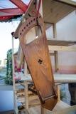 Musikinstrument gusli mit neun Ländern Hölzerne Volksmusikinstrumente stockbilder